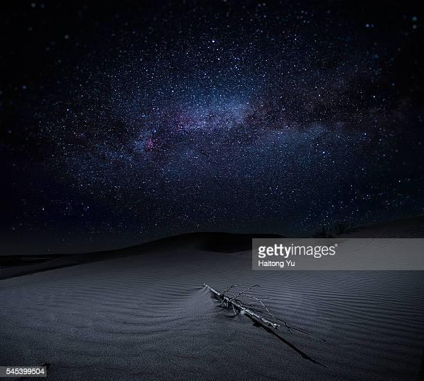 Milky way above desert