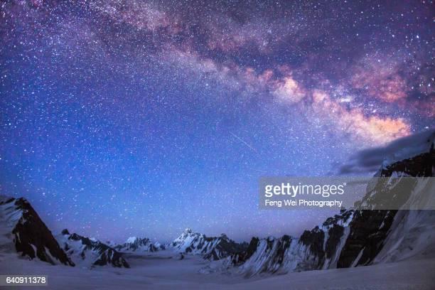 Milky Way Above Snow Lake, Hispar La, Biafo Hispar Snow Lake Trek, Central Karakoram National Park, Gilgit-Baltistan, Pakistan