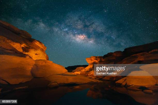 Milky way above the Grand canyon of Thailand