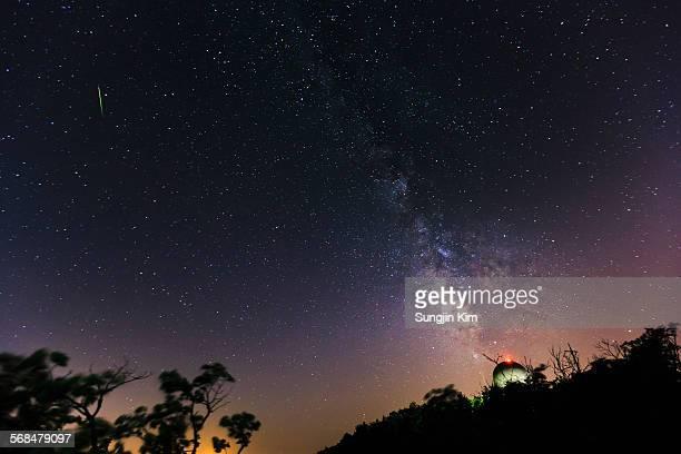 Milky way above the meteorological radar station