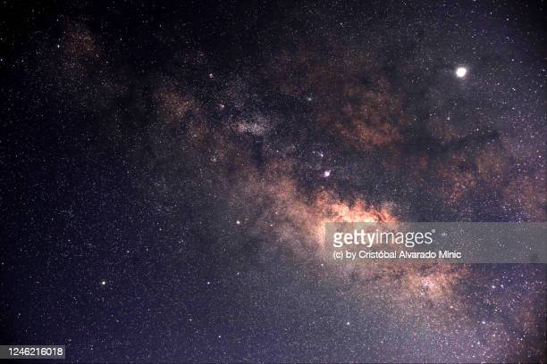 milky way and jupiter - constellation stock pictures, royalty-free photos & images