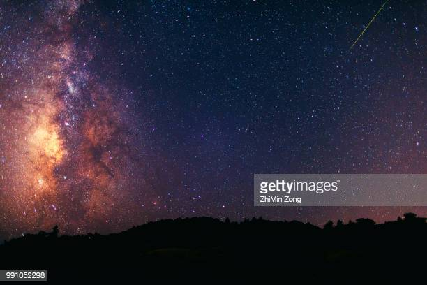 milky way and perseid meteor shower - tanabata festival stock pictures, royalty-free photos & images
