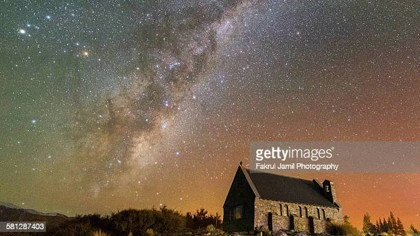 Milky Way and Southern Lights at Famous Church