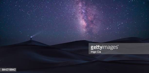 Milky Way arch over the desert