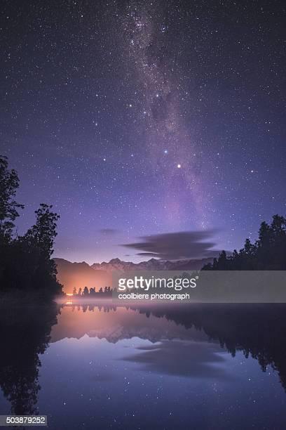 Milky way at Lake Matheson