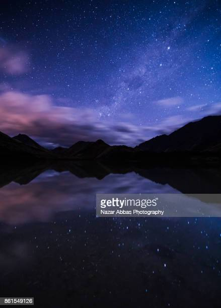 Milky way at Lake Moke, Queenstown, South Island, New Zealand.