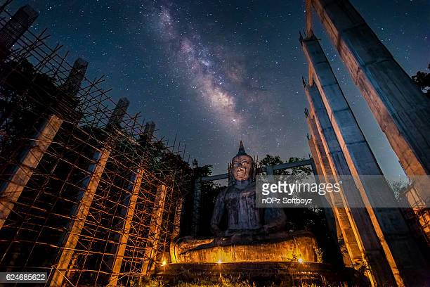milky way at night - nopz stock pictures, royalty-free photos & images