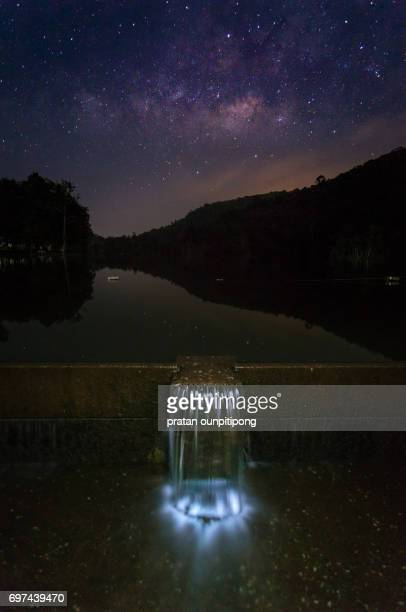 milky way at the reservoir