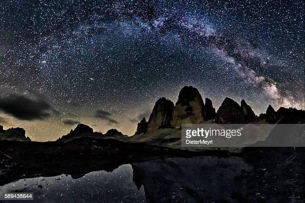 Milky Way  at tre Cime of the Dolomites (Drei Zinnen)