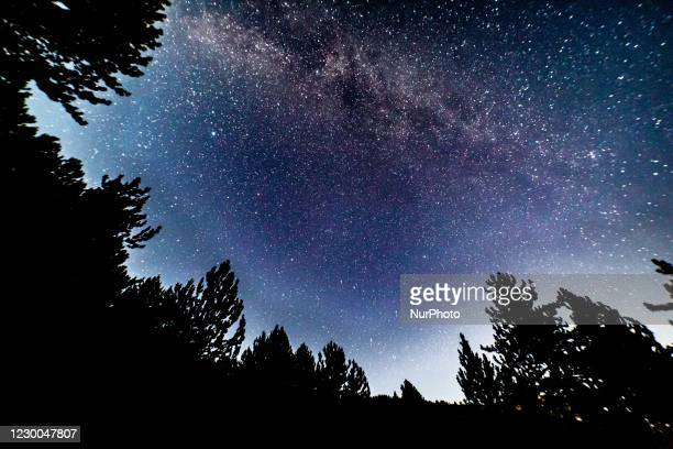Milky Way captured with long exposure photography technique. Milkyway is the visible part of our galaxy that contains our Solar System as seen during...