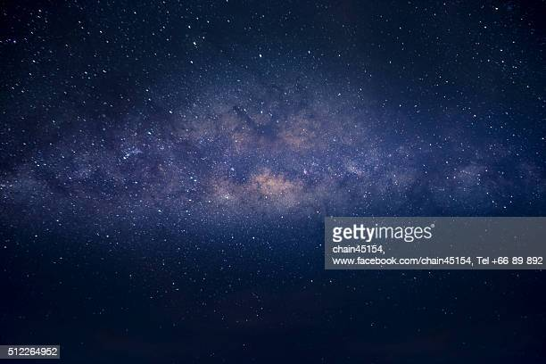Milky way galaxy background at the night with stars in the sky.