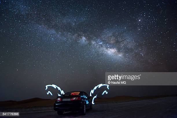 Milky way galaxy in UAE desert