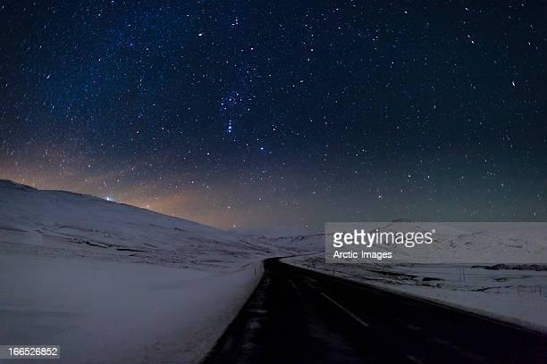 Milky Way Galaxy on clear winter night