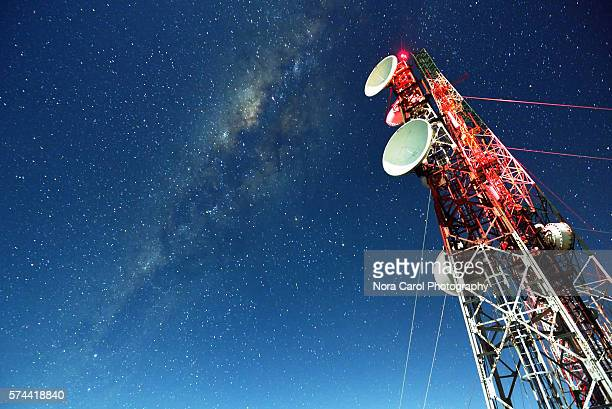 milky way galaxy - telecommunications equipment stock pictures, royalty-free photos & images