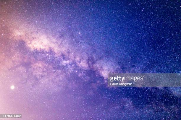 milky way galaxy with stars and space dust in the universe - celebrities stock-fotos und bilder