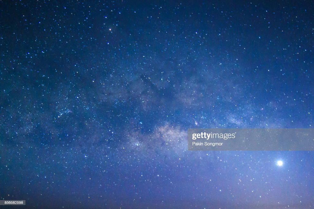 Milky way galaxy with stars and space dust in the universe : Stock-Foto