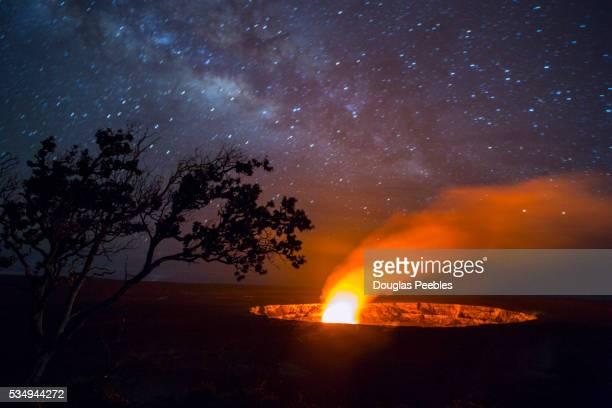 Milky Way, Halemaumau Crater, Kilauea Volcano, HVNP, Hawaii Volcanoes National Park, The Big Island