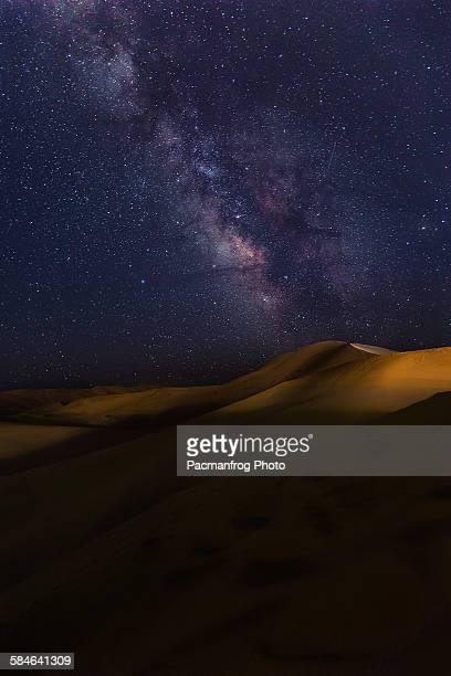 Milky way in the desert