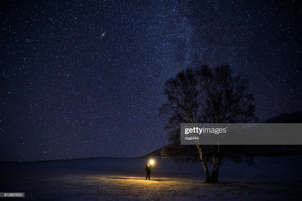 Milky way in the galaxy : Stock Photo