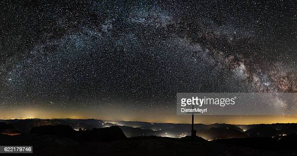 Milky Way on top of Mount Hochkönig in Alps