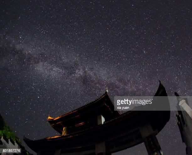 Milky way over archway,Hangzhou,China