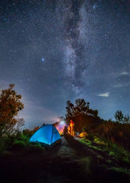 Milky Way Over Camping Tent - Fine Art prints