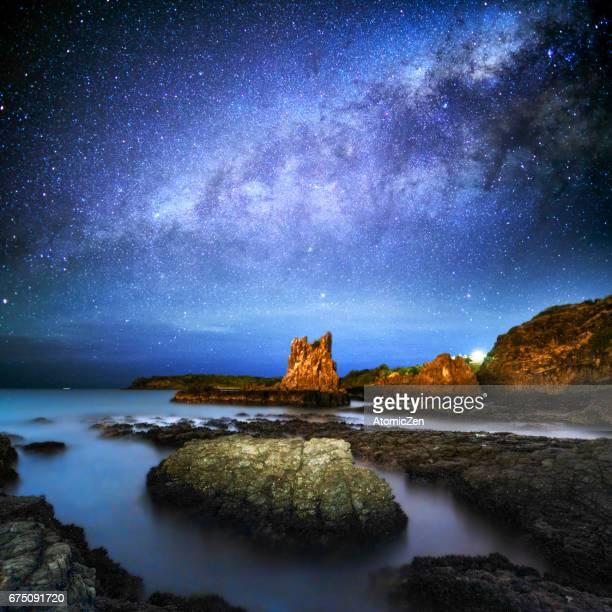 Milky way over Cathedral rock, Kiama, Sydney