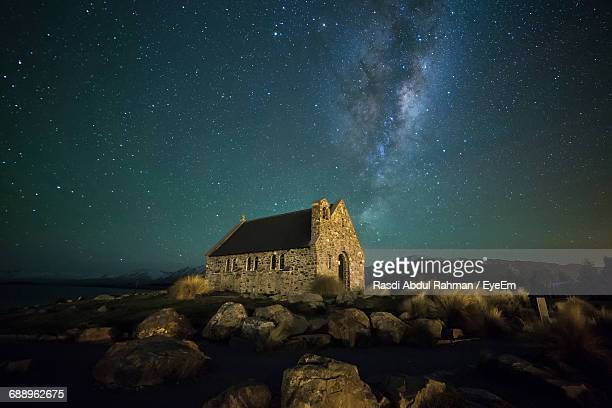 Milky Way Over Church Of The Good Shepherd