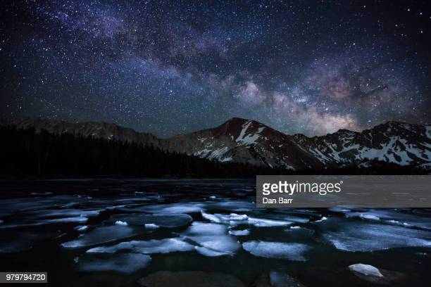milky way over east lake - barr stock pictures, royalty-free photos & images
