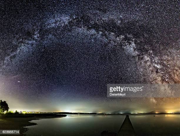 Milky Way over Jetty at Lake Chiemsee