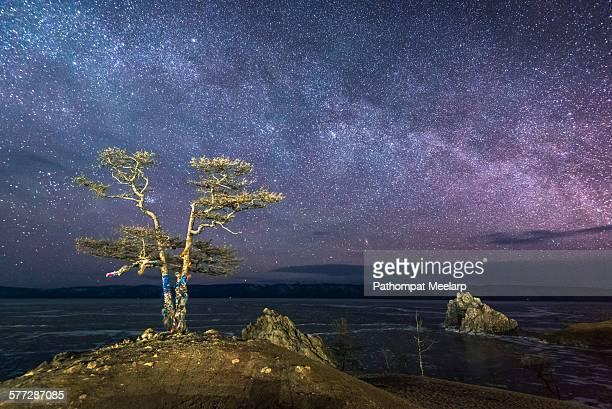 Milky way over Lake Baikal