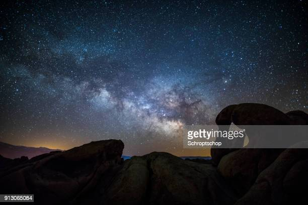 Milky Way over Mobius Arch in California, USA