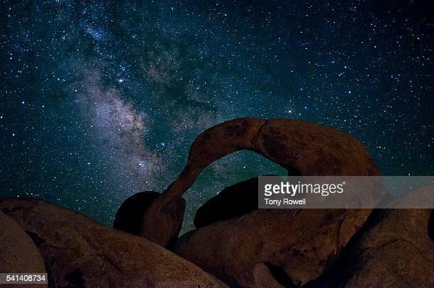 Milky Way over Mobuis Arch in Alabama Hills, Eastern Sierra, California, USA