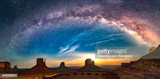 Milky Way over Monument Valley Arizona, Utah