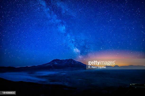 Milky Way over Mt. St. Helens