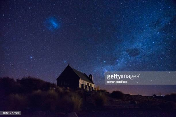 Milky Way Over The Church Of The Good Shepherd, New Zealand