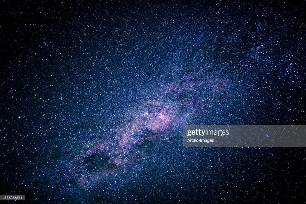 Milky way over the night sky, Africa : Stock Photo
