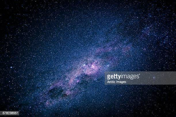 milky way over the night sky, africa - milky way stock pictures, royalty-free photos & images