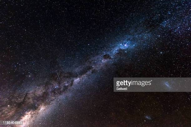 milky way over the sky, view from the southern hemisphere - milky way stock pictures, royalty-free photos & images
