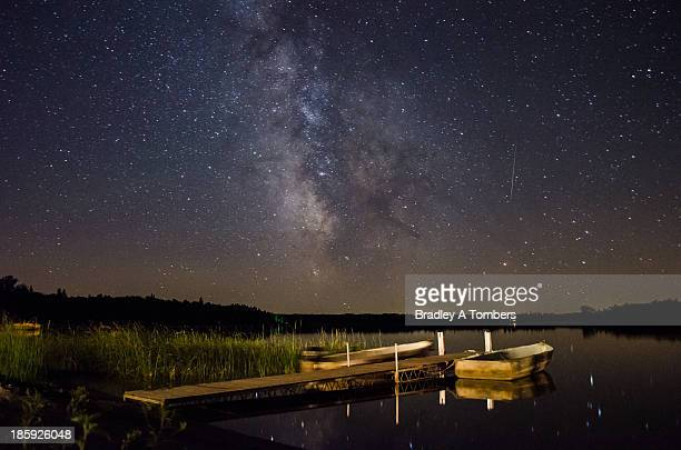 Milky Way Over Two Inlets Lake, Minnesota