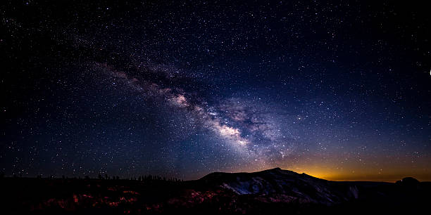 Milky Way over Yosemite National Park.