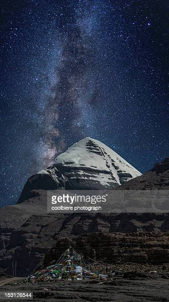 milky way - mt kailash stock pictures, royalty-free photos & images
