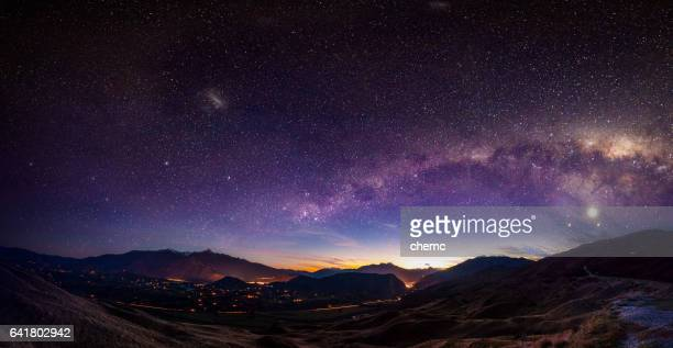 milky way - illuminate stock photos and pictures