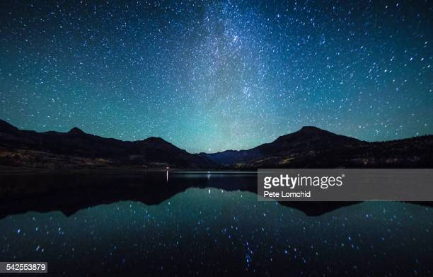 milky way reflection sence - celebrities photos stock pictures, royalty-free photos & images