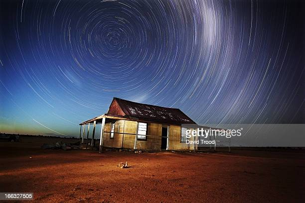 Milky Way star trails in the outback