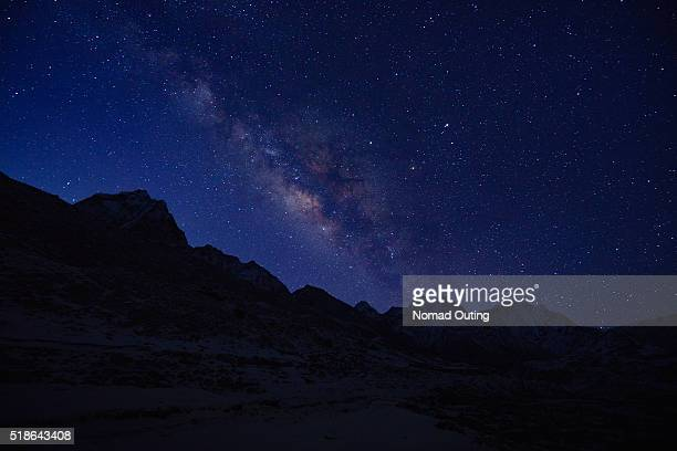 Milky way Top of Himalayan mountain range.