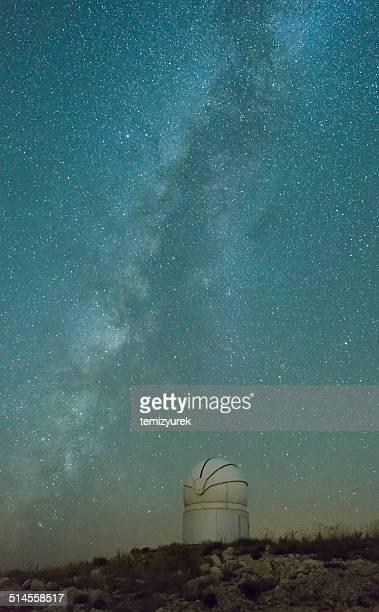 la via lattea con telescopio - supernova foto e immagini stock
