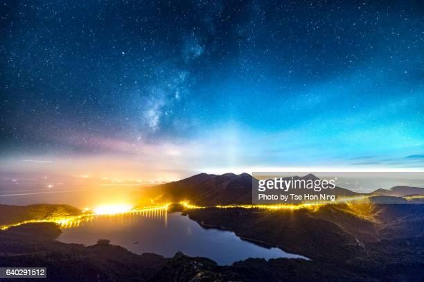 Milkyway over reservoir