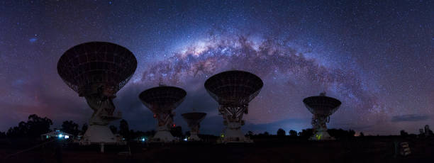 Milkyway Setting Over Telescopes