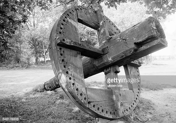 mill museum Suhlendorf trade museum openair museum water wheel of a water mill DSuhlendorf Samtgemeinde Rosche Lueneburg Heath Lower Saxony